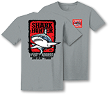 Grey shark hunter shirt