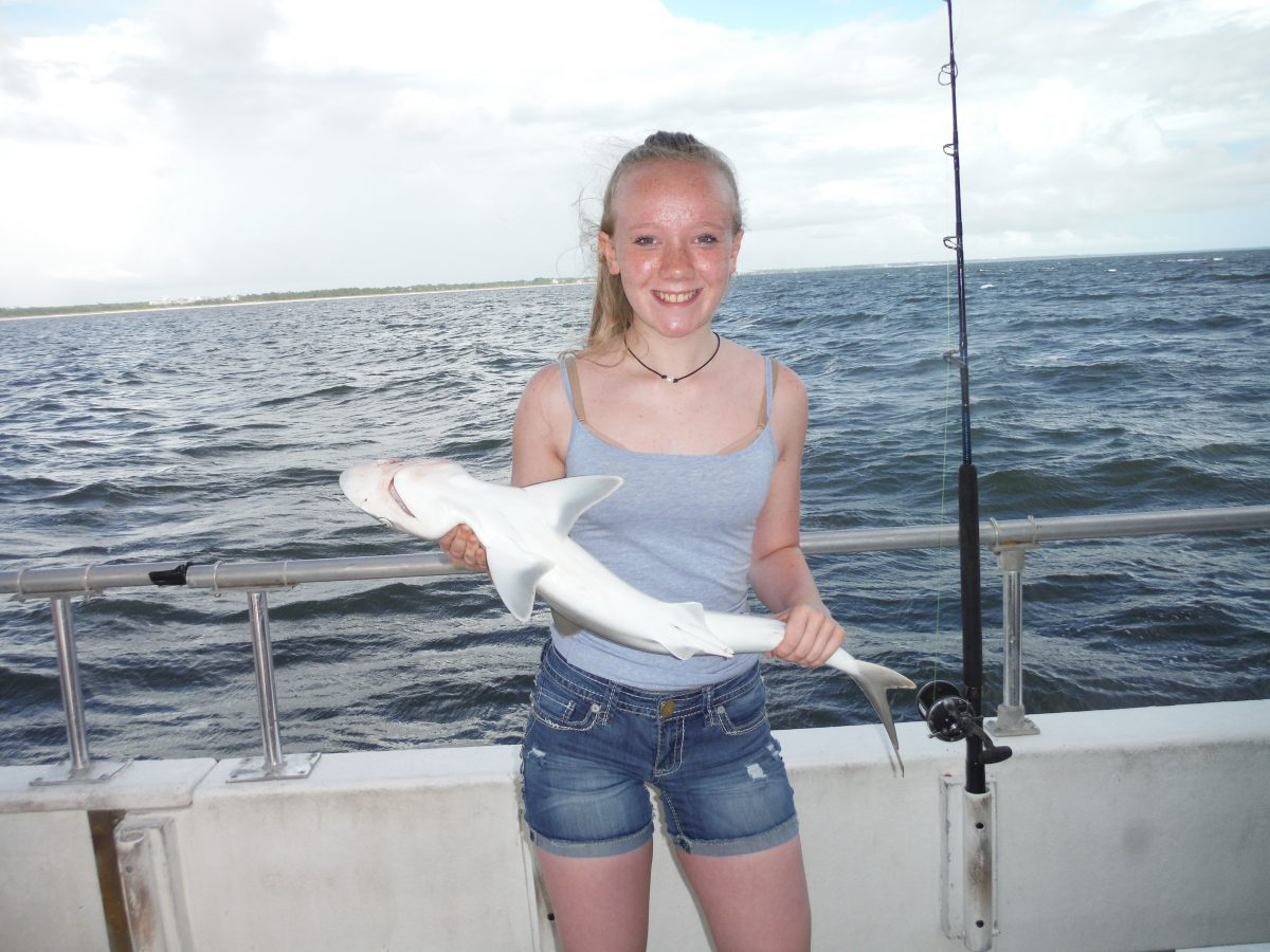 Girl with shark